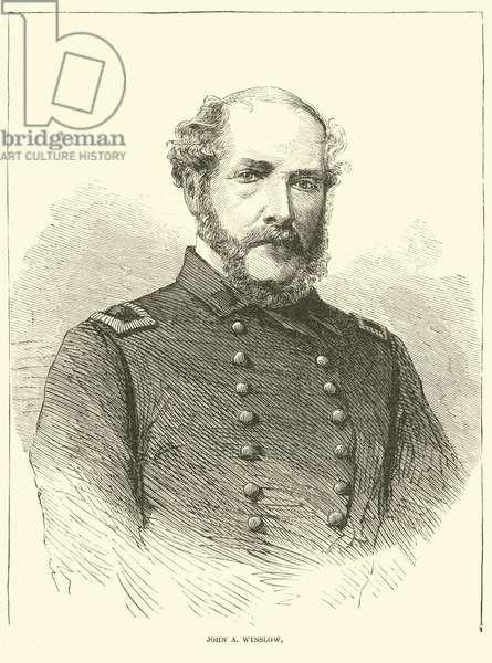 John A Winslow, January 1863 (engraving)
