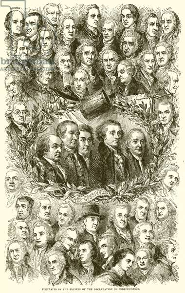 Portraits of the Signers of the Declaration of Independence (engraving)