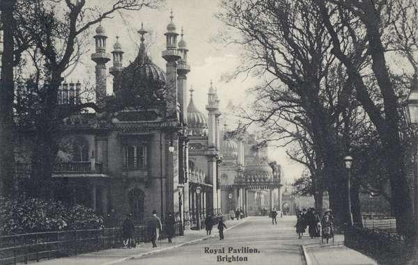 Royal Pavilion, Brighton, Sussex (b/w photo)