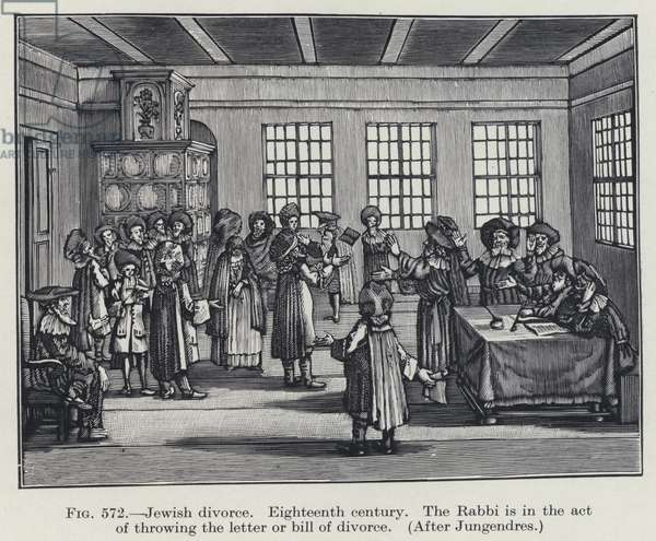 Jewish divorce, Eighteenth century (litho)