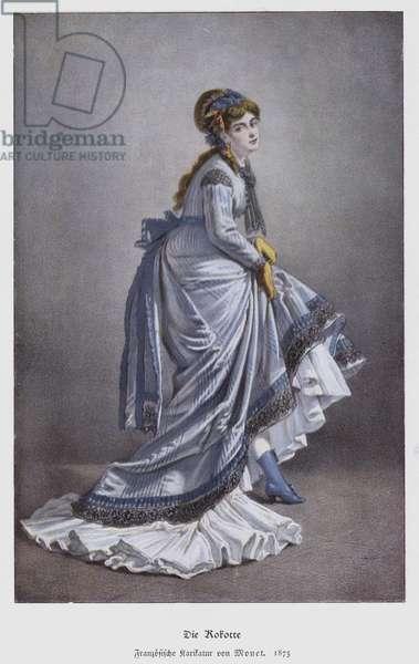 The Coquette, 1875 (colour litho)