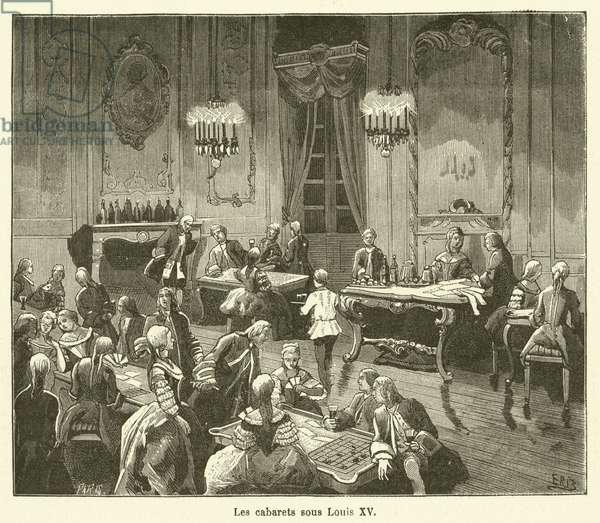 Les cabarets sous Louis XV (engraving)
