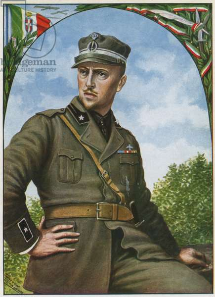 Gabriele d'Annunzio, the soldier poet