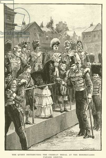 The Queen Distributing the Crimean Medal at the Horseguards Parade Ground (engraving)