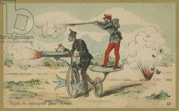 Military velocipede (chromolitho)