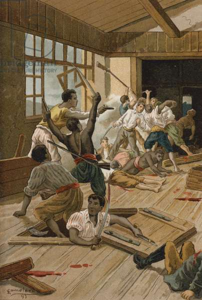 They carried out a terrible massacre (chromolitho)