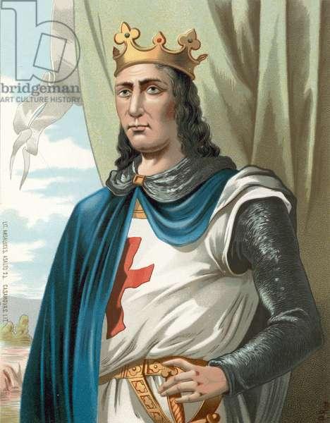 King Louis IX of France, or Saint Louis (chromolitho)