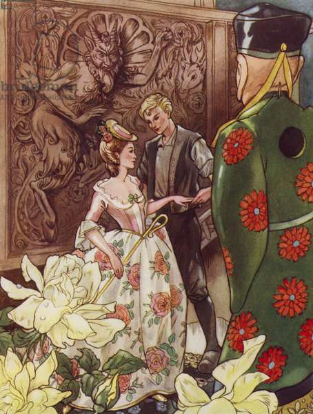 Hans Christian Andersen story: The Shepherdess And The Chimney Sweep (colour litho)