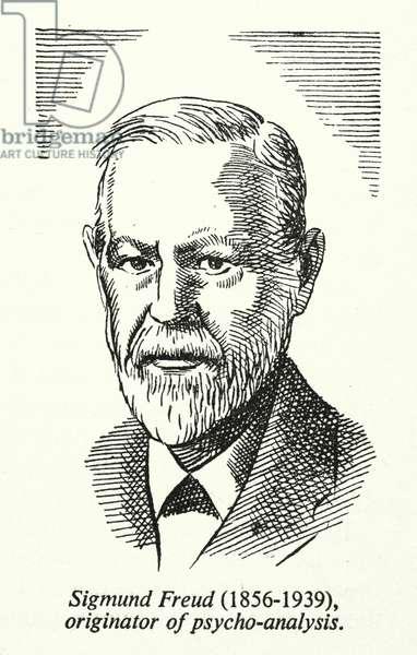 Sigmund Freud, 1856-1939, originator of psycho-analysis (litho)