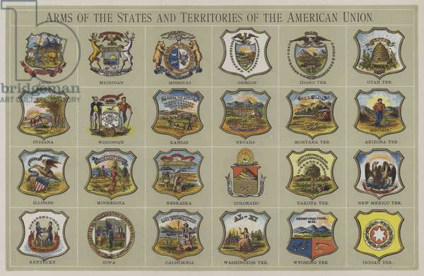 Arms of the States and Territories of the American Union (colour litho)