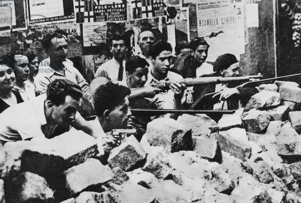 Spanish Civil War, 1936-39 (b/w photo)