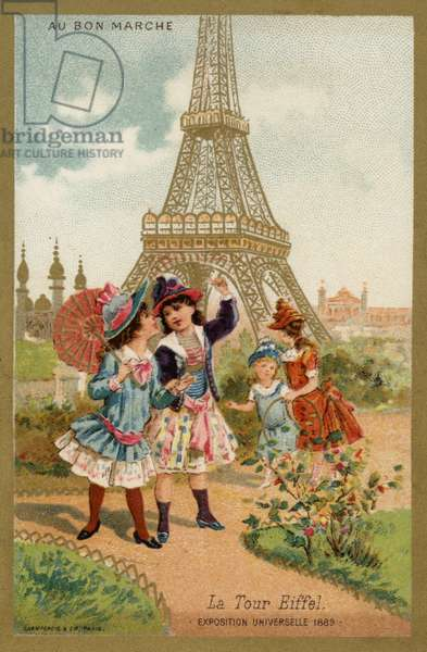 The Eiffel Tower, Exposition Universelle, Paris, 1889 (chromolitho)