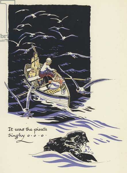 Peter Pan and Wendy: It was the pirate dinghy (colour litho)