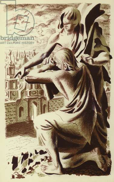 Revelation of St John: The Heavenly Jerusalem (colour litho)