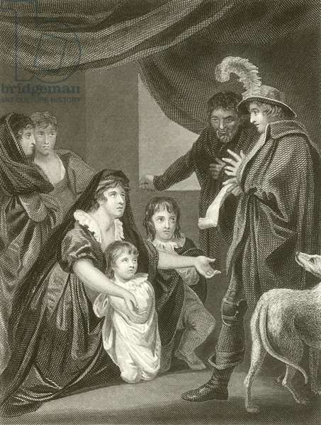 Lady Elizabeth Gray entreating Edward IV to protect her children (engraving)