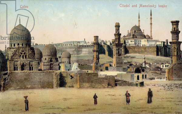 Citadel and Mameluk Tombs, Cairo (colour photo)