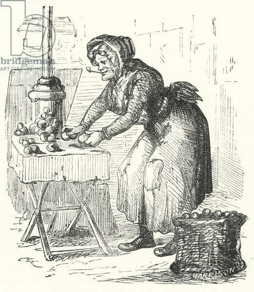 The old apple-woman (engraving)