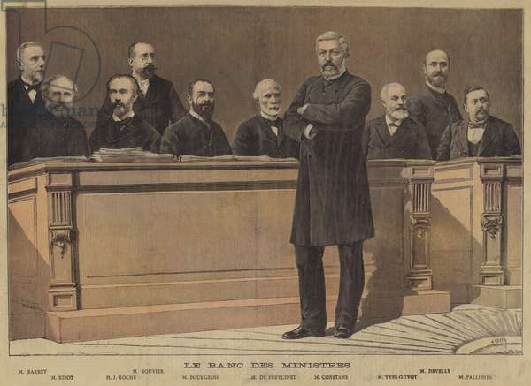 The ministerial bench (colour litho)
