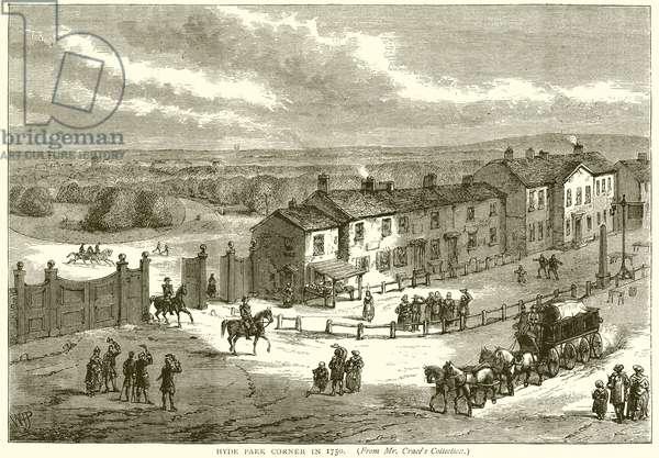 Hyde Park Corner in 1750 (engraving)