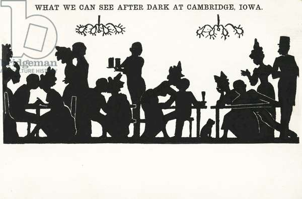 Nighlife: what we can see after dark at Cambridge, Iowa (litho)