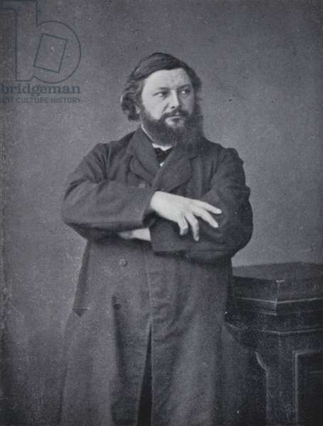 The painter Gustave Courbet (b/w photo)