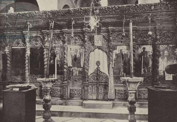Greek Church, Nazareth, near St Mary's Well (b/w photo)