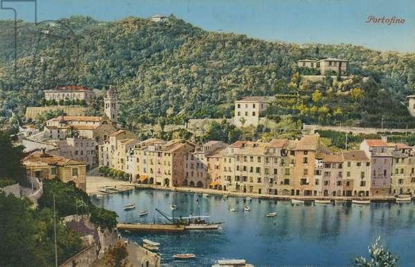 Portofino, Italy. Postcard sent in 1913.