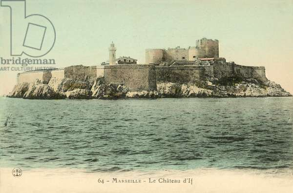 Marseille, Le Chateau D'If (colour photo)
