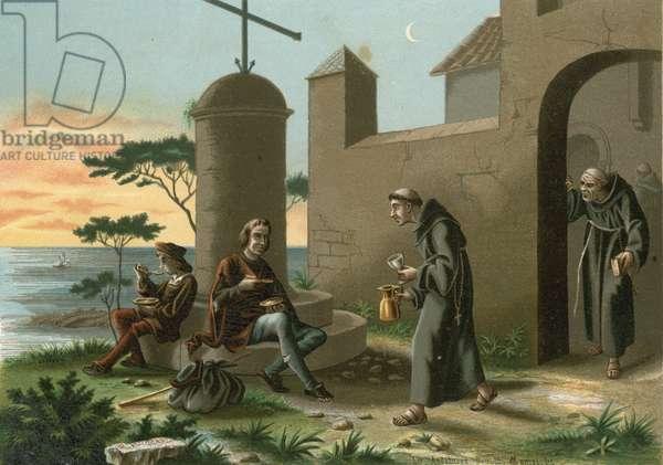 The arrival of Columbus at La Rabida