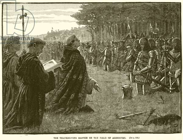 The Thanksgiving Service on the Field of Agincourt (engraving)