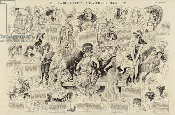 La Belle Helene a travers les ages (engraving)