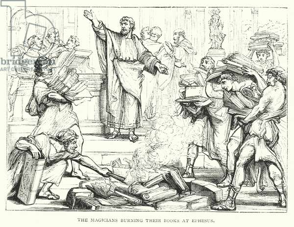 The Magicians burning their Books at Ephesus (engraving)