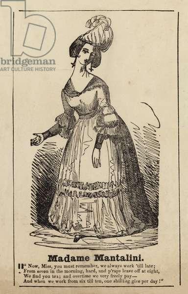 Madame Mantalini from Nicholas Nickleby (engraving)