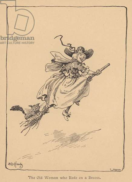 The Old Woman who Rode on a Broom (litho)