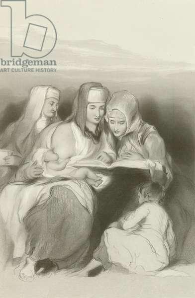 Hebrew Women Reading the Scriptures at Jerusalem (engraving)
