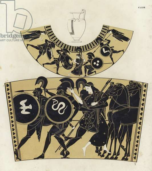 Battles in Ancient Greece (colour litho)