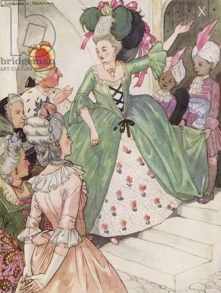 Hans Christian Andersen story: The Tinder Box (colour litho)