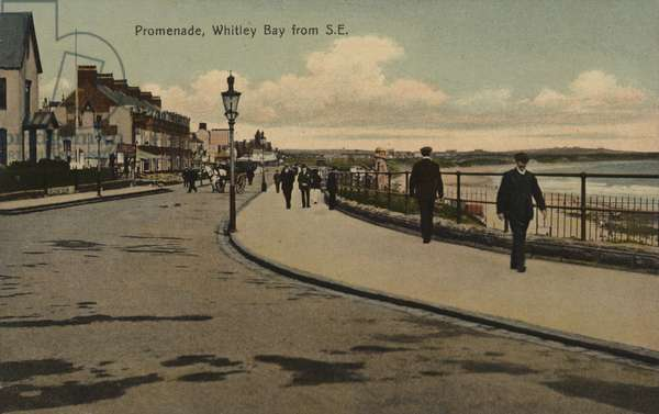 Promenade, Whitley Bay from South East (coloured photo)