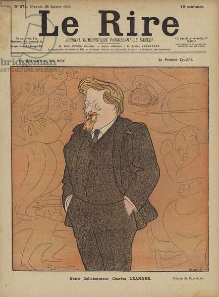 Charles Leandre, Illustration for Le Rire (colour litho)