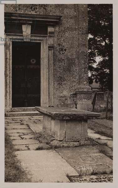 Little Gidding, grave of Nicholas and John Ferrar (b/w photo)