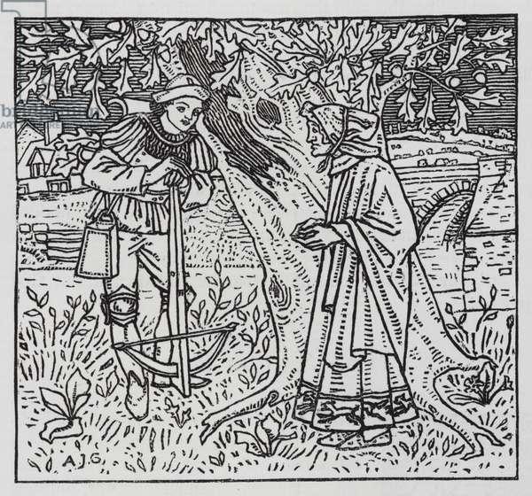 Hans Christian Andersen: The Tinder Box (litho)