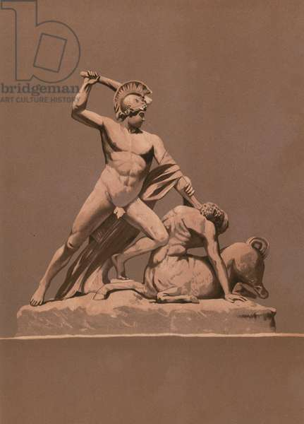 Theseus killing the minotaur
