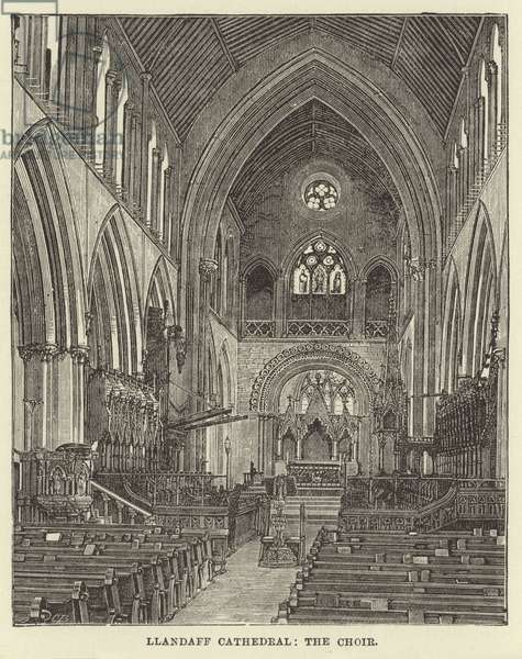 Llandaff Cathedral, the Choir (engraving)