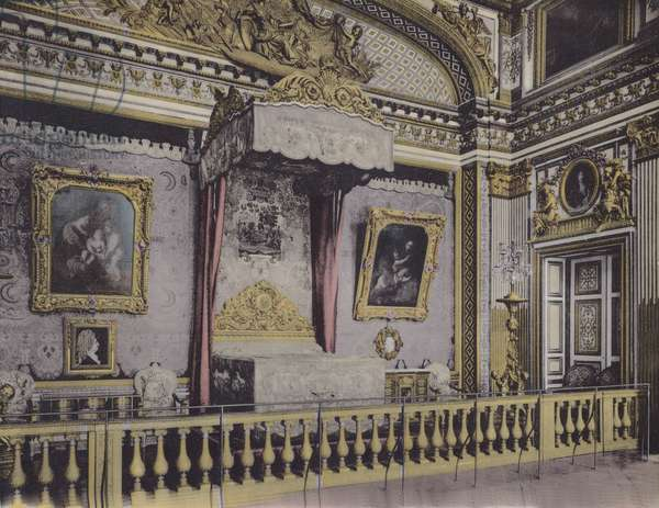 Chambre de Louis XIV, Louis XIV Bedroom (coloured photo)