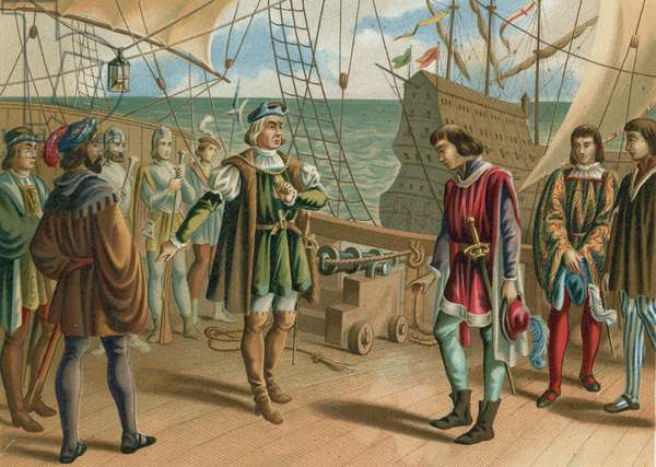 Columbus ignores the orders of the Portuguese admiral