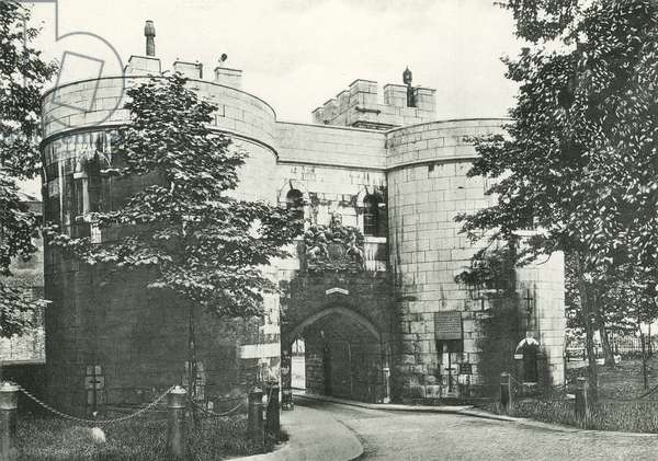 Middle Tower, Tower of London (b/w photo)