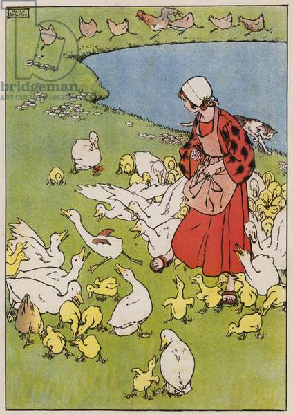 The Ugly Duckling (colour litho)