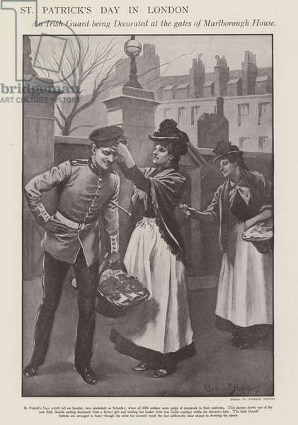 St Patrick's Day in London (litho)