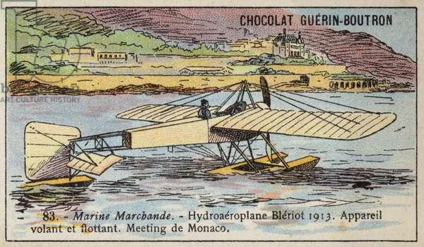 Bleriot floatplane, 1913 (chromolitho)