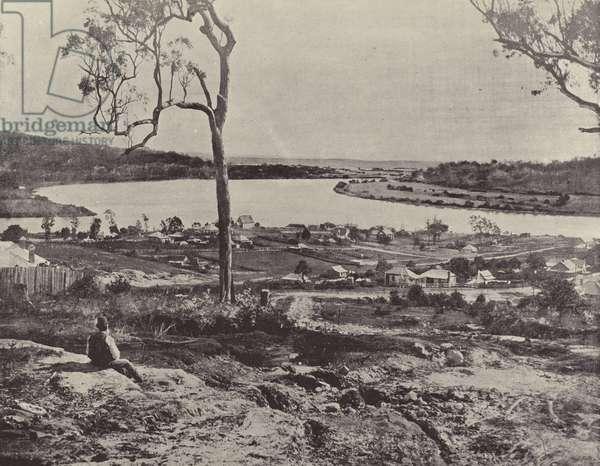 Clarence River at Maclean (b/w photo)